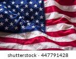 Close Up American Flag Studio...