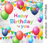 birthday greeting card with... | Shutterstock .eps vector #447791866