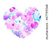 Romantic  Purple Watercolor...