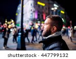 man walking in the streets of... | Shutterstock . vector #447799132