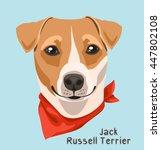 portrait of a dog breed jack... | Shutterstock .eps vector #447802108