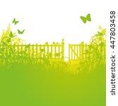 Garden Fence And Open Gates