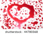 heart shape from drops of red... | Shutterstock . vector #44780368