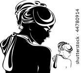 vector beautiful woman face. | Shutterstock .eps vector #44780914