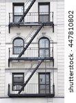 urban fire escape manhattan new ... | Shutterstock . vector #447810802