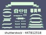 set of retro vintage banner... | Shutterstock . vector #447812518