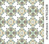 seamless geometric floral...   Shutterstock . vector #447812608