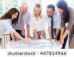 business team in strategy... | Shutterstock . vector #447814966