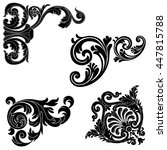 set of vintage baroque corners  ... | Shutterstock .eps vector #447815788