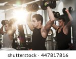 sport  fitness  lifestyle and... | Shutterstock . vector #447817816