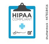 hipaa compliance icon graphic | Shutterstock .eps vector #447818416