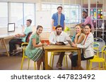 business people working... | Shutterstock . vector #447823492