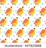 seamless ornamental pattern... | Shutterstock .eps vector #447823888