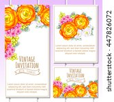 vintage delicate invitation... | Shutterstock . vector #447826072