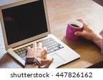 businessman using his computer... | Shutterstock . vector #447826162