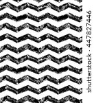 black and white grunge chevron... | Shutterstock .eps vector #447827446
