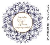 romantic invitation. wedding ... | Shutterstock . vector #447829132