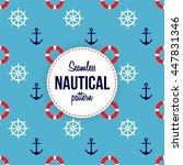 seamless nautical pattern   Shutterstock .eps vector #447831346