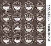 vintage grunge  labels set of...   Shutterstock .eps vector #447847072