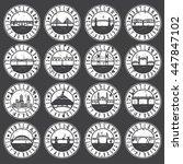vintage grunge  labels set of...   Shutterstock .eps vector #447847102