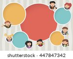 vector background with cartoon... | Shutterstock .eps vector #447847342