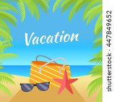 summer vacation concept banner. ... | Shutterstock .eps vector #447849652