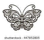 vector  contour  black and... | Shutterstock .eps vector #447852805
