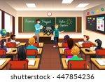 a vector illustration of... | Shutterstock .eps vector #447854236