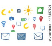 set of icons   Shutterstock .eps vector #447857806