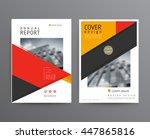 business template for brochure  ... | Shutterstock .eps vector #447865816