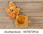 water quince with quince on... | Shutterstock . vector #447873916
