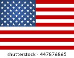 flag american sign vector... | Shutterstock .eps vector #447876865