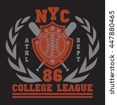 new york  sport wear typography ... | Shutterstock .eps vector #447880465