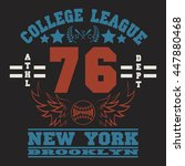 new york  sport wear typography ... | Shutterstock .eps vector #447880468