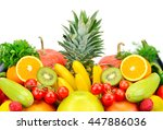 fruits and vegetables isolated... | Shutterstock . vector #447886036