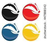 set of badger vector logotypes. ... | Shutterstock .eps vector #447888142