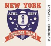 new york sport wear typography... | Shutterstock .eps vector #447892105