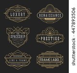 vintage line frame design for... | Shutterstock .eps vector #447893506