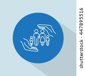line icon  family life insurance | Shutterstock .eps vector #447895516