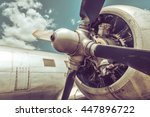 old aircraft close up | Shutterstock . vector #447896722