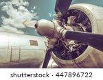 Small photo of Old aircraft close up