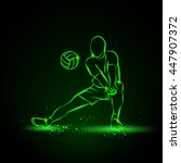 volleyball player plays... | Shutterstock .eps vector #447907372