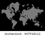 abstract world map made of dots....   Shutterstock .eps vector #447918112
