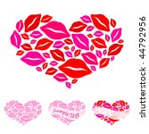 hearts for valentine's day | Shutterstock .eps vector #44792956
