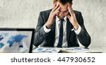 businessman leader stress... | Shutterstock . vector #447930652