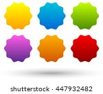 set of 6 colorful  vivid button ... | Shutterstock . vector #447932482