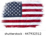american flag on plain... | Shutterstock . vector #447932512