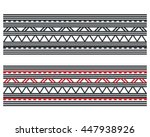 maori   polynesian style... | Shutterstock .eps vector #447938926