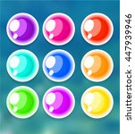 set of colorful bubbles | Shutterstock .eps vector #447939946