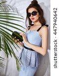 hot summer girl beauty sexy... | Shutterstock . vector #447940642